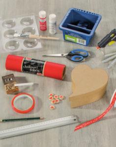 Herz-Tafelstoff-material